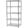 "Industrial Wire Shelving Unit with 5 Shelves - 24""d x 36""w"