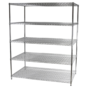 "Industrial Wire Shelving Unit with 5 Shelves - 36""d x 60""w"