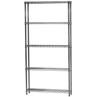 "Industrial Wire Shelving Unit with 5 Shelves - 8""d x 36""w"
