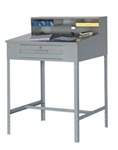 "Open Shop Desk with Guides - 34-1/2""w x 30""d x 53""h"
