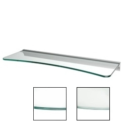"Dolle Glass Line - Clear Glass Concave Shelf- 6""-8"" x 24"" x 5/16"""