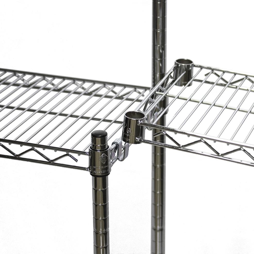Accessories Black Wire Shelving   Shelves  u0026 Carts Components. White Wire Shelving Accessories   Nilza net