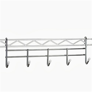 Wire shelving coat rack