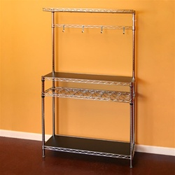 "Chrome Wire Kitchen Kit 14""d x 24""w x 64""h Wine Shelving"