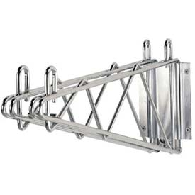direct to wall mounting double shelf wire brackets