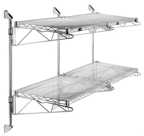 adjustable wall mount double shelf brackets. Black Bedroom Furniture Sets. Home Design Ideas