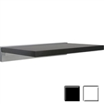 "12""d x 18""w x 1""h Dolle SUMO Series - Lightweight Wall Shelf w/ metal Cube mounting brackets"