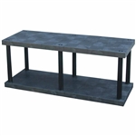 "DuraShelf Solid Top 66""w Base 2-Shelf System"