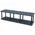"DuraShelf Solid Top 96""w Base 2-Shelf System"