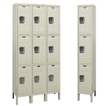 Galvanite Lockers - Triple Tier - Hallowell