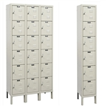 Galvanite Lockers - Six Tier - Hallowell