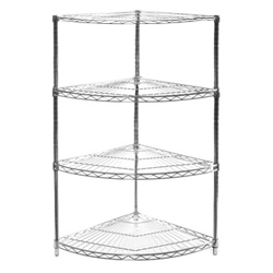 "24"" Radius Corner Unit w/ 4 Shelves"