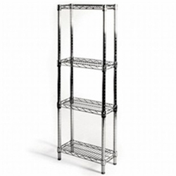 "8""d x 18""w Wire Shelving with 4 Shelves"