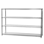 "18""d x 72""w Wire Shelving with 4 Shelves"