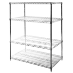 "24""d x 42""w Wire Shelving with 4 Shelves"