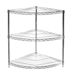 "18"" Radius Corner Unit  34"" High  w/3 Shelves"