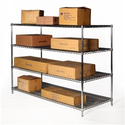 "30""d x 72""w Wire Shelving with 4 Shelves"