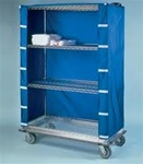 "18"" Depth Wire Shelving Cart Covers- Blue"