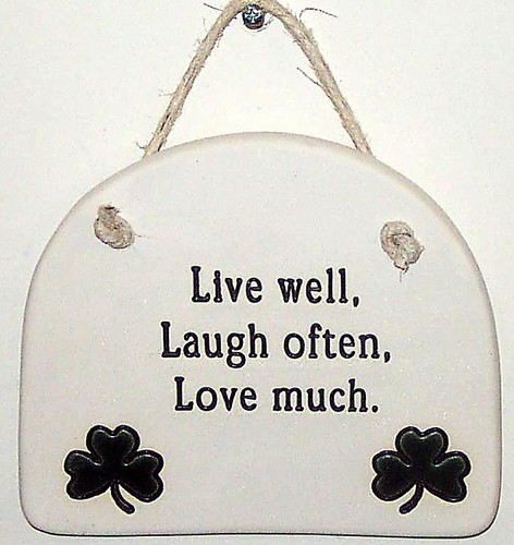 live well laugh often love much large hanging plaque. Black Bedroom Furniture Sets. Home Design Ideas