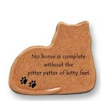 "August Ceramics Cat Magnet ""No home is complete without the pitter patter of kitty feet."""
