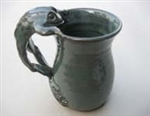 FUNKWARE POTTERY- FROG HANDLE MUG