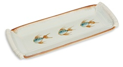 "GEORGETOWN POTTERY- ""IVORY FISH"" SERVING TRAY"