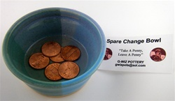 G-WIZ POTTERY- SPARE CHANGE HOLDER