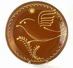 Hendersons Redware Pottery Bird on Sprig