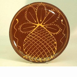 Hendersons Redware Pottery Pineapple Plate