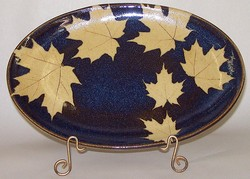 KALEIDOSCOPE POTTERY-- MEDIUM OVAL SERVING DISH