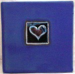 "MICHAEL COHEN- #1 -- ""One Heart"" pattern tile"