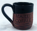 MudWorks Pottery Naked Coffee Mug by JoAnne Stratakos