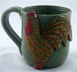 MudWorks Pottery Rooster Mug by JoAnn Stratakos
