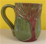 MudWorks Pottery Tree Mug by JoAnne Stratakos