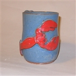 MudWorks Pottery Lobster Mug by JoAnn Stratakos