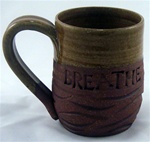 "MudWorks Pottery ""Breathe"" Mug by JoAnne Stratakos"