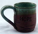 "MudWorks Pottery ""Hope"" Mug by JoAnne Stratakos"