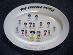 Sheffield Pottery Custom Family Tree Platter