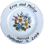 Sheffield Pottery Custom Wedding or Anniversary Plate or Platter