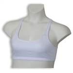 3800W - White Jail Sports Bra