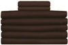 "Brown 54""x90"" Flat Sheets T-130"
