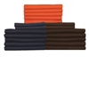 "Flat Sheets in Brown, Navy, or Orange (T-180, 66"" x 104"")"
