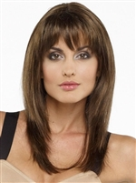 Long Layered Synthetic Mono Part Wig - Leyla by Envy