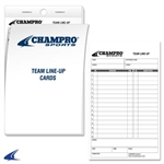 Champro Team Line-Up Cards