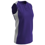Champro Girls 2 Button Sleeveless Fastpitch Jersey