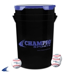Champro Baseball Bucket with 30 Leather Balls
