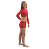Pizzazz Performance Wear | Youth V-Neck Crop Top | 7283-PIZ-5580