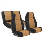 Smittybilt 471025 Neoprene Front & Rear Seat Cover Set Jeep JL 4-Dr