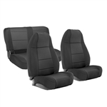 Smittybilt 471101 Neoprene Front & Rear Seat Cover Set Jeep JL 4-Dr