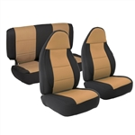 Smittybilt 471325 Neoprene Front & Rear Seat Cover Set Jeep JL 4-Dr